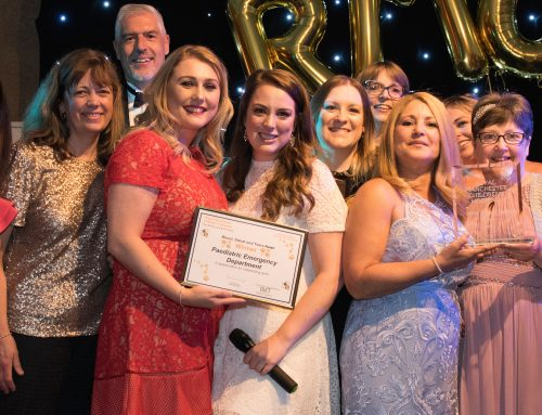 """The Royal Manchester Children's Hospital """"Blood, Sweat and Tears Award""""."""